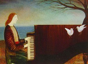 Alex Dobrowsky - Piano by the Sea - 12 x 14