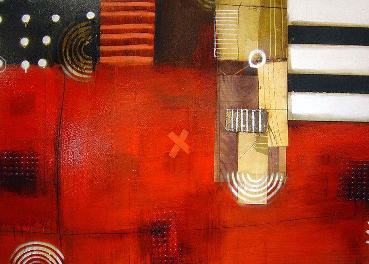 Anke Schofield - Abstract X-Dot - 36 x 47
