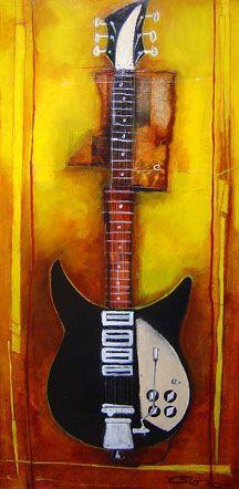 Cheryl Gross - John's Guitar II - 53 x 29