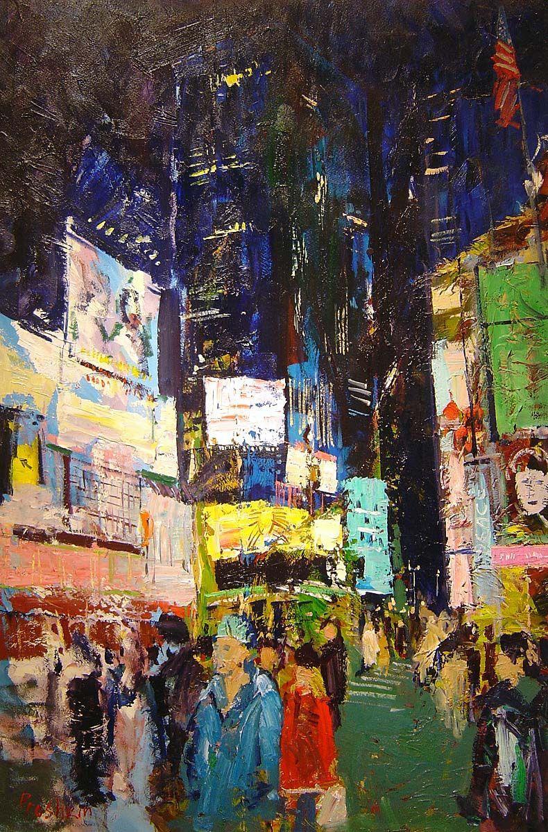 Dmitriy V. Proshkin - Times Square I - 40 x 28