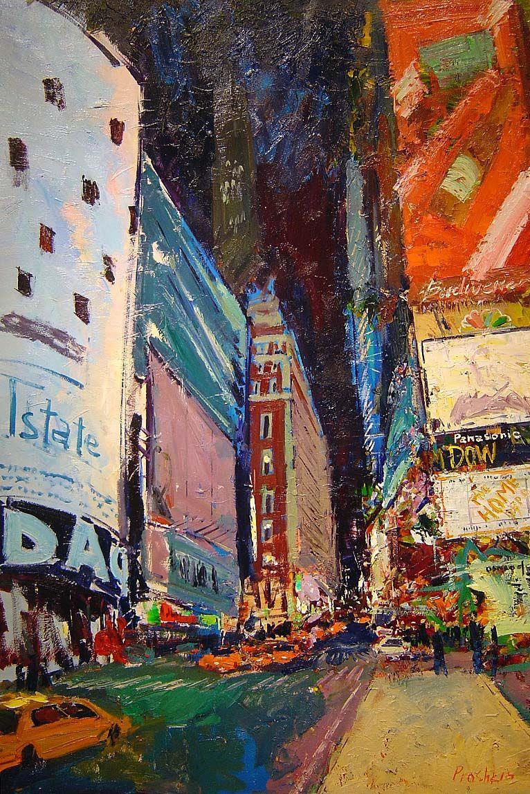 Dmitriy V. Proshkin - Times Square II - 40 x 28