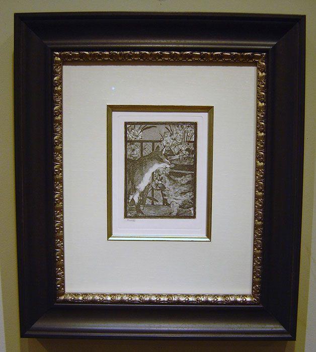 Edouard Manet - Le Chat et Les Heurs - 22 x 20