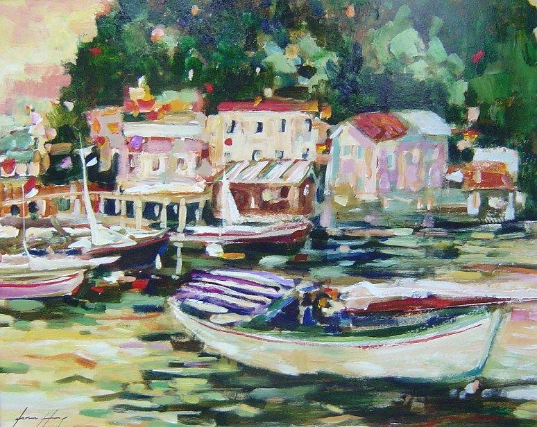 Fiona Hoop - Boating - 32 x 40