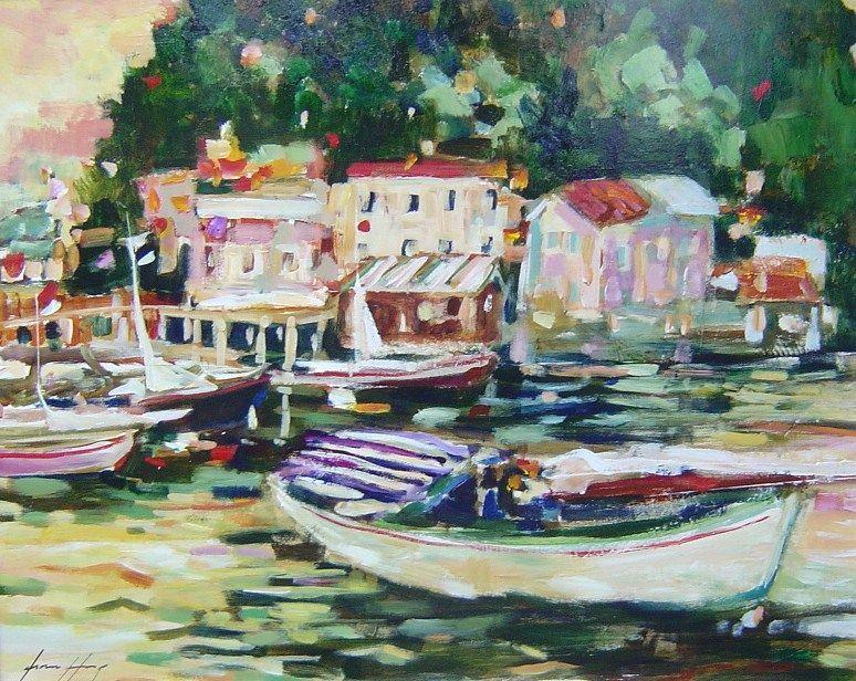 Fiona Hoop - Boating - 32 x 40
