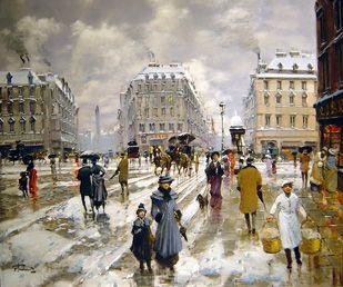 Francesco Tammaro - Paris in the Snow - 26 x 29