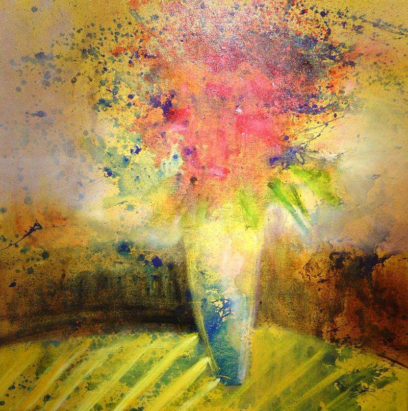Helen Zarin - Le Fleur I - 37 x 37