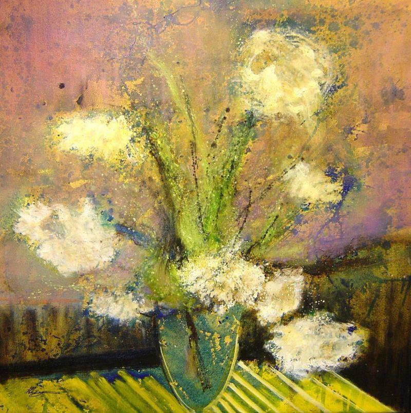 Helen Zarin - Le Fleur II - 37 x 37