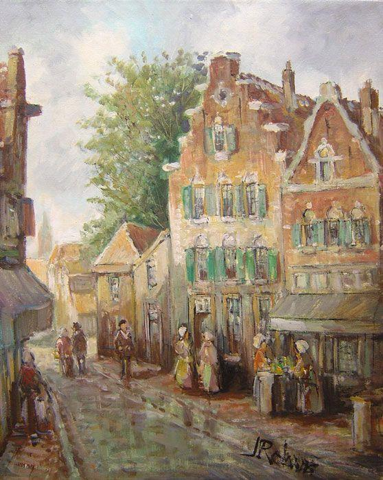 J. Rolands - Dutch Streets I - 26 x 22