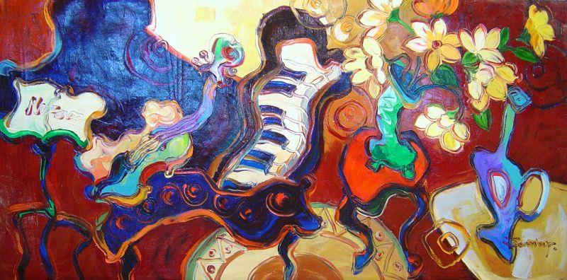 Jamie  P. - Musical Still Life - 24 x 48