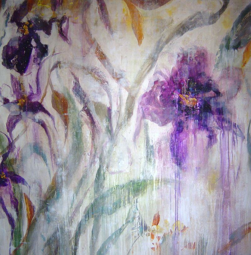 Jodi  Maas - Floral Abstract I - 50 x 50