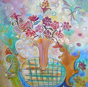 Joyce Lieberman - Crazy Daisy - 48 x 48