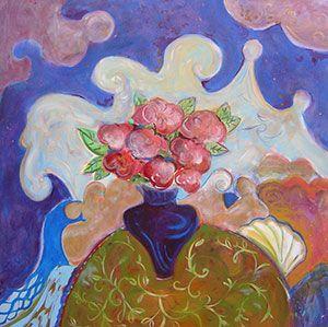 Joyce Lieberman - Midnight Blue - 48 x 48