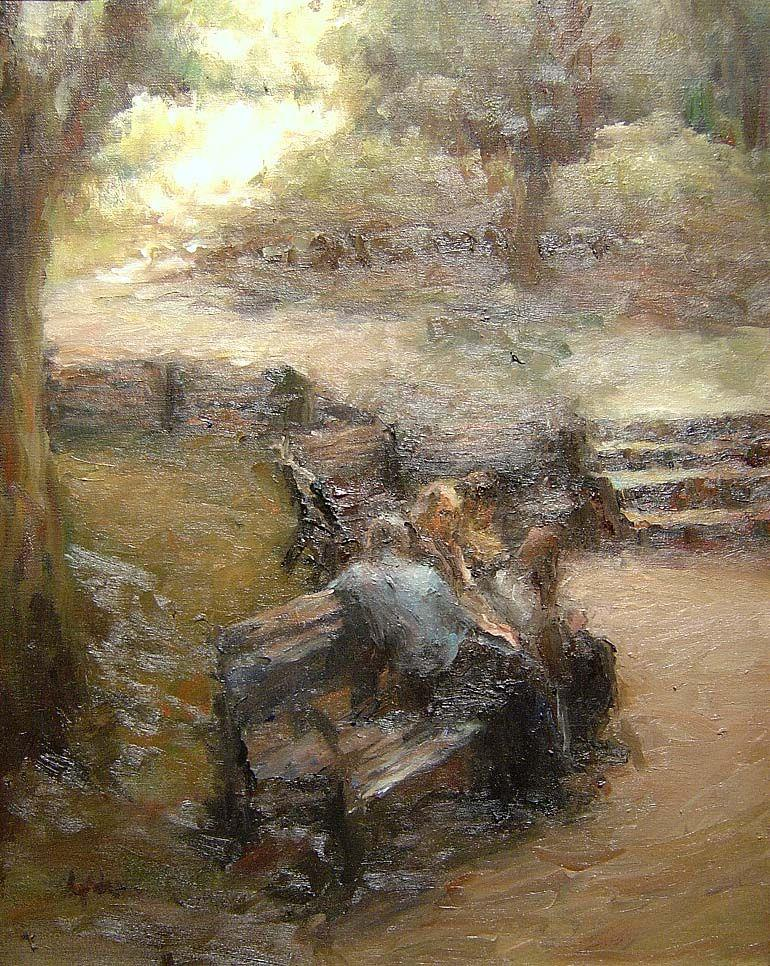 Laurie Adams - Afternoon in the Park - 25 x 21