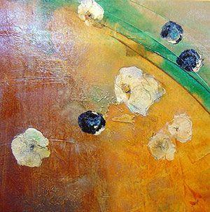 Nancy Ngo - Floating Floral I - 22 x 22