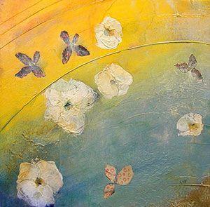 Nancy Ngo - Floating Floral II - 22 x 22