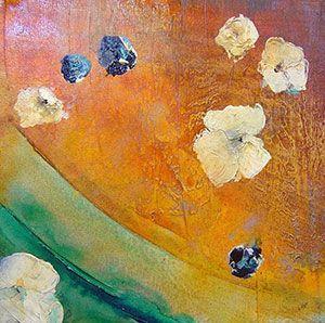 Nancy Ngo - Floating Floral IV - 22 x 22