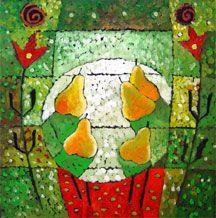 Natalya Romanovsky - Pears II - 28 x 28