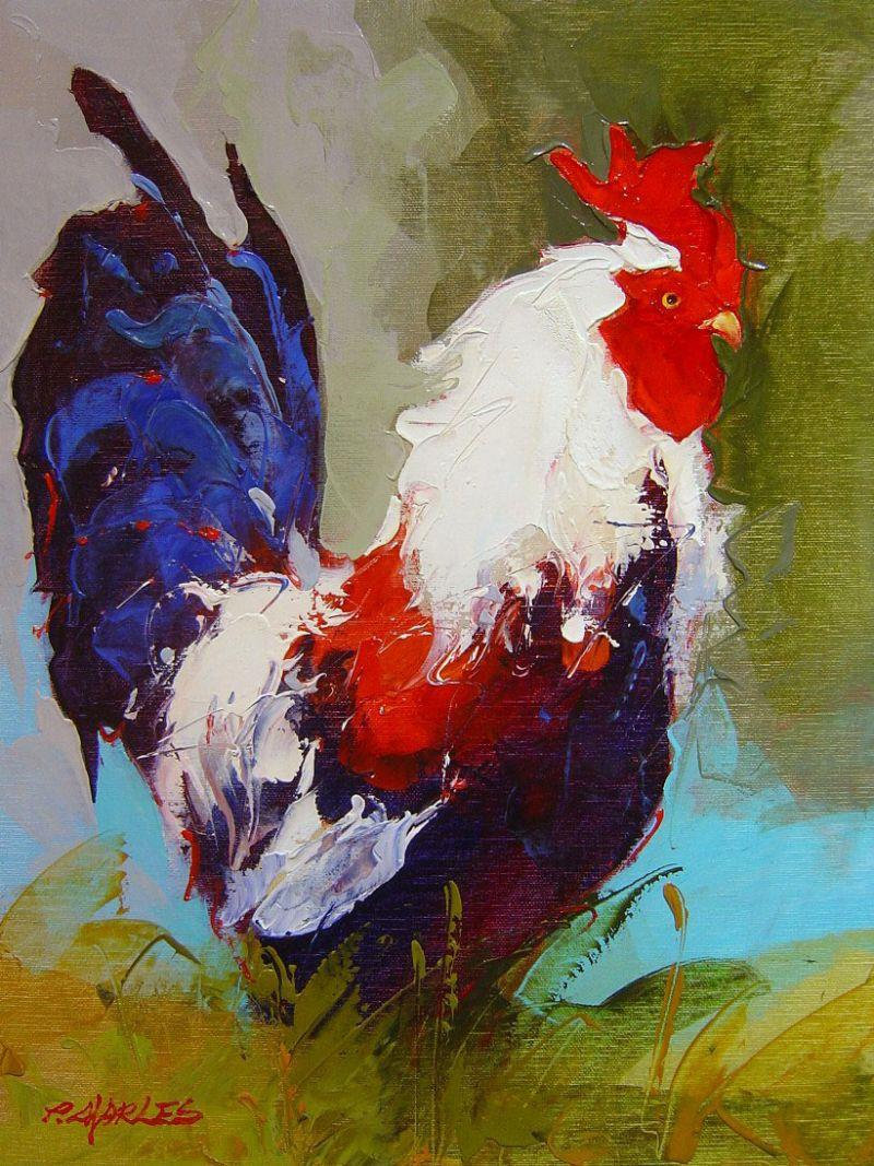 Pete Charles - Rooster I - 22 x 18