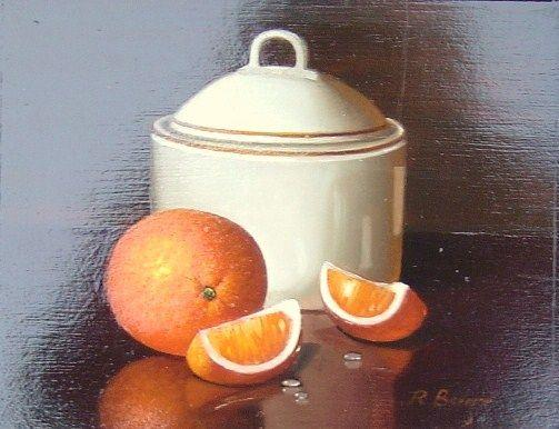 Rath Berger - Orange with Porcelain Bowl - 10 x 11