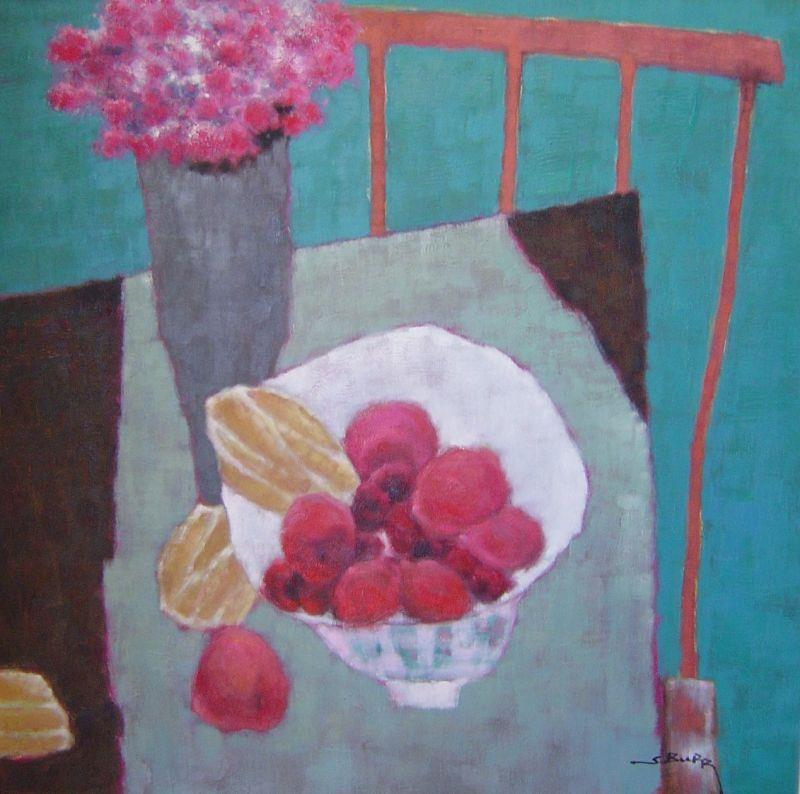 S. Burr - Fruit Bowl Vase and Chair - 33 x 33