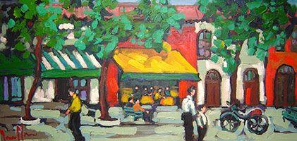 Yvonne Mora - Summer Street - 26 x 46