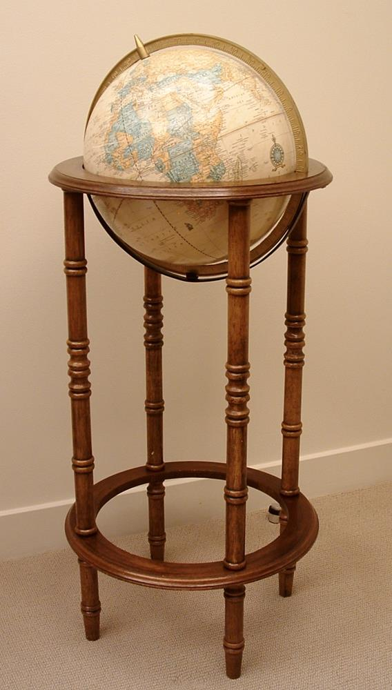 crams imperial world globe wooden stand